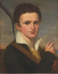 Portrait d'un jeune homme au f