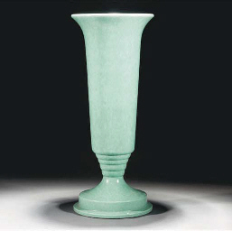 A POOLE POTTERY VASE FOR THE C