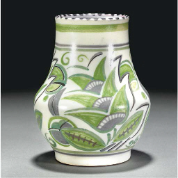 A POOLE POTTERY VASE DESIGNED