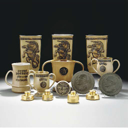 A POOLE STONEWARE LOVING CUP D