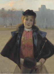 Portrait of a young woman, thr