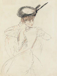 The elegant lady - verso; A bl