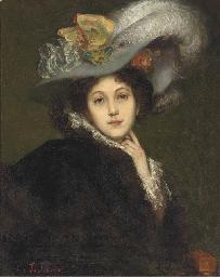 Elegante au chapeau