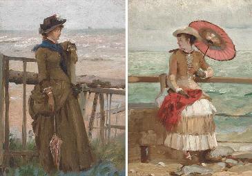 Elegantes aux bord de la mer