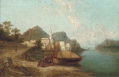 An Italianate coastal scene