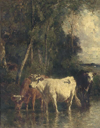 Cattle at the river