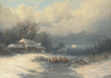A Russian winter landscape