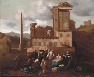 A market place amongst Italian