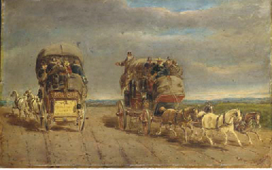 London to York coaches passing