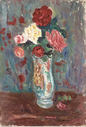 Bouquet de roses au pot de pha