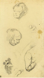 Studies of a woman reading