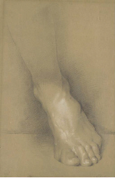 Study of a foot; and four draw
