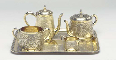 A FRENCH FOUR-PIECE MINIATURE