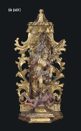 A PAIR OF GERMAN GILTWOOD AND