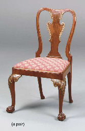 A PAIR OF GEORGE II STYLE SIDE