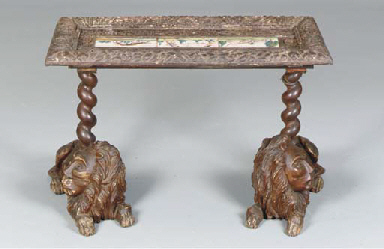 A RENAISSANCE STYLE LOW TABLE,