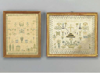 TWO NEEDLEWORK SAMPLERS,