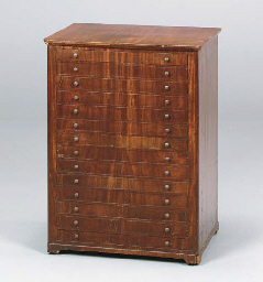 A CONTINENTAL MAHOGANY COLLECT
