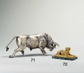 A SIENA MARBLE MODEL OF A RECU