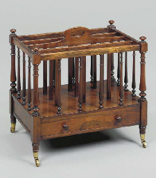 A LATE REGENCY ROSEWOOD CANTER
