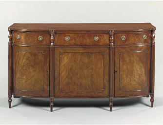 A REGENCY MAHOGANY SIDE CABINE