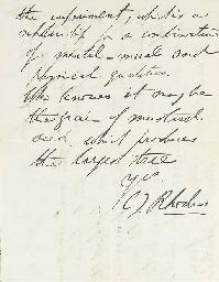 RHODES, Cecil John (1853-1902)