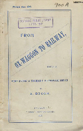 BOGGIE, A. From Ox-Waggon to R