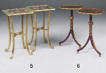 A PAIR OF GILT AND RED LACQUER