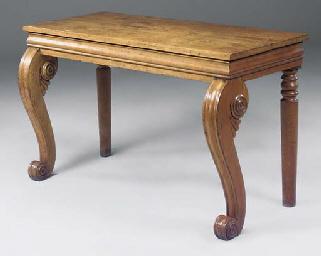 A WILLIAM IV OAK CONSOLE TABLE