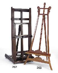 A Victorian mahogany studio ea