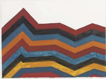 Irregular horizontal bands of
