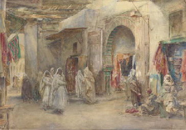 Gate of Souk el Trouk, Tunisia