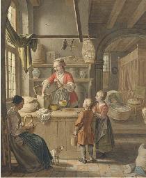 At the tea merchants