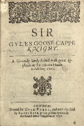 [CHAPMAN, George (ca 1559-1634