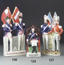 A Staffordshire figure-group o