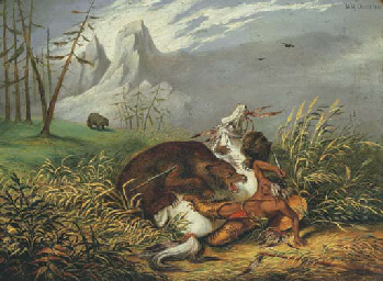 Sioux Indian under Attack