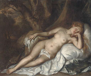 Study of a sleeping nymph in a