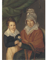 Portrait of a mother and son h