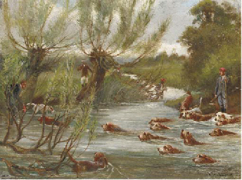 Otter hunting
