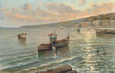 Fishermen off a Neapolitan coa