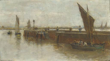The quayside, Honfleur (recto)