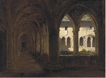 Study of a monastery, with fig