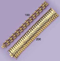 (2) TWO GOLD BRACELETS