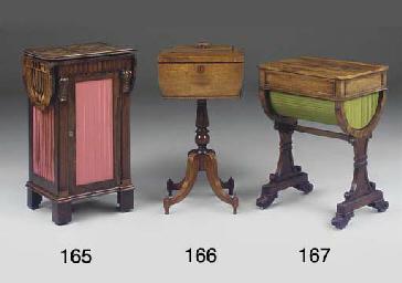 A REGENCY ROSEWOOD WORK TABLE