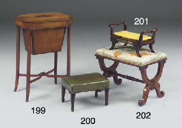 A GEORGE III SATINWOOD AND LIN