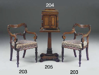 A LATE REGENCY ROSEWOOD OCCASI