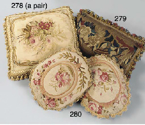 A PAIR OF FINELY WOVEN AUBUSSO
