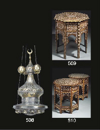 A PAIR OF CAIRO-WARE SILVERED