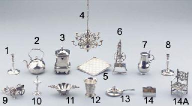 A Dutch silver miniature tea-k