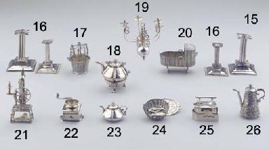 (2) A Dutch silver miniature t